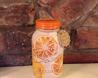 Emma Bridgewater Oranges Mason Jar money bank, savings jar, piggy bank, Shabby chic, Vintage