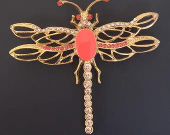 Unique apparel dragonfly brooch .