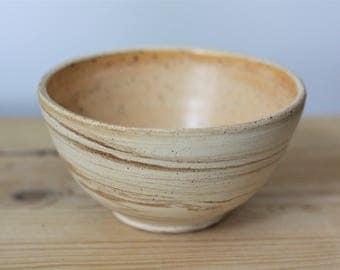 Creamsicle Marbled Ceramic Bowl – Modern Ceramic Bowl – Handmade Ceramic Bowl – Small Ceramic Bowl – Stoneware Bowl