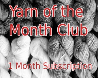 Yarn of the Month Sock Yarn Club | Hand Dyed | Indie Dyed Yarn | Made in Canada | 1 Month Subscription (January 2018) | Gifts for Knitters