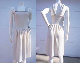 Stretchy Striped Tank Top Dress - Size 2-4