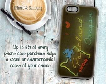 I love Portland phone case, Portland Oregon phone case, Oregon souvenir phone case,