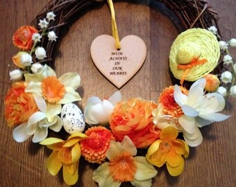 "Easter Memory Wreath 8"""