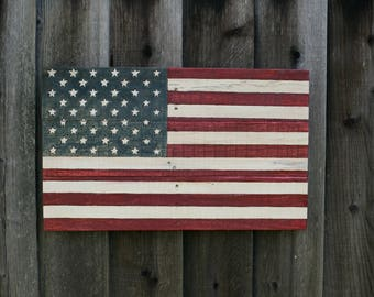 Stained American Flag