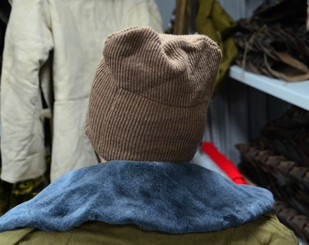 Vintage Wool Winter Soviet Russian Army Hat Balaclava Face Mask, Free Shipping