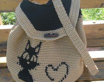 Crochet backpack backpack