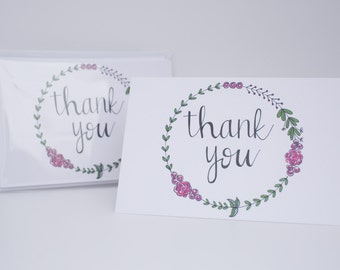 Thank You greeting card 6-PACK