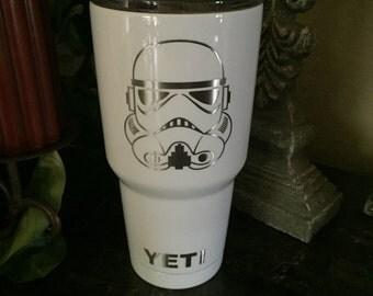 Custom Powder Coated Yeti, RTIC Cups, Yeti, NFL yeti, Star Wars yeti, Star Wars, Storm Trooper, Storm Trooper yeti