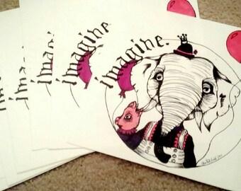 Elephant/Pig - Imagine series - Print