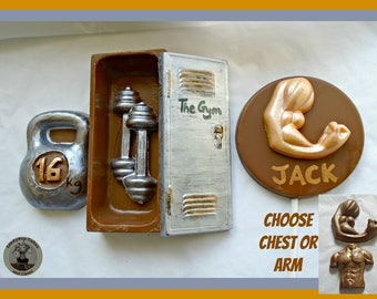 Chocolate Gym Gift/Personal Trainer/Gym Training/Fitness/Muscles/Weights/Mens Edible Gift/Birthday/Boyfriend/Husband/Son/Brother/Male Friend