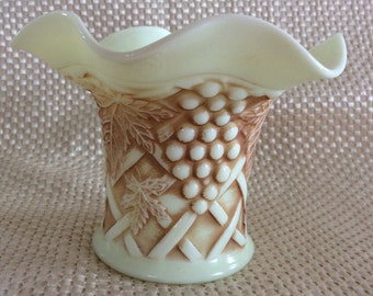 Antique Northwood glass Grape and Cable pattern custard glass