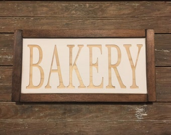 Bakery Engraved Wood Sign