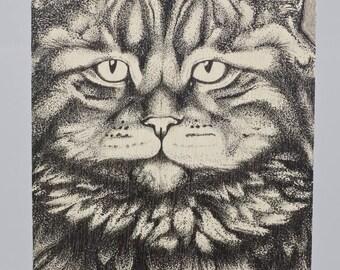 el Gato (Cat) Birchwood Greeting Card