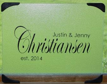 Personalized Glass Cutting Board, Kitchen Utensils, Housewarming Gift, Wedding Gift, Christmas gift