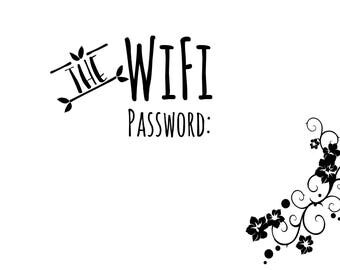 WiFi Printable - Instant Download