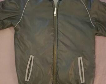 Vintage Reversible Jacket 80s Men's Small Black/Grey