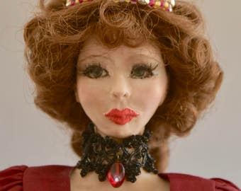 Josephine, 16 inch OOAK Hand Sculpted Polymer Clay Art Doll