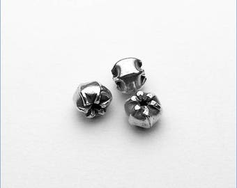 HB045 ~ Shiny Pinched Bead ~ 2/pkg