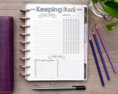 KEEPING TRACK Happy Planner Printed Refills, Create 365 The Happy Planner, Habit Tracker Insert, MAMBI Planner Printed Task Inserts, HPFCL10