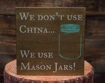 Mason Jar Decor For Kitchen | Wood Sign | Mason Jar Wall Decor | Funny Gift | Funny Kitchen Decor | Country Decor| Kitchen Wall Art