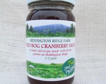 wild bog cranberry sauce/old fashioned wild bog cranberry sauce/homemade wild bog cranberry sauce/classic Maine wild bog cranberry sauce