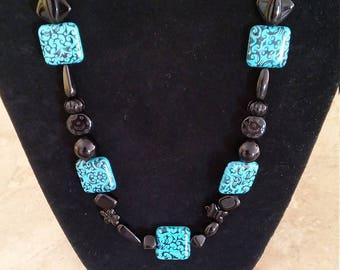 Black Turquoise Jewelry Set