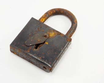 Father's day gift Antique lock safe lock old Unique Rustic Craft supplies Metal padlock steampunk industrial decor farmhouse style love lock
