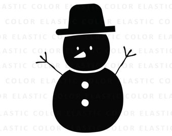 Snowman svg -  snowman clipart - snowman cut file - christmas vector cricut and cameo files  svg, png, dxf, eps