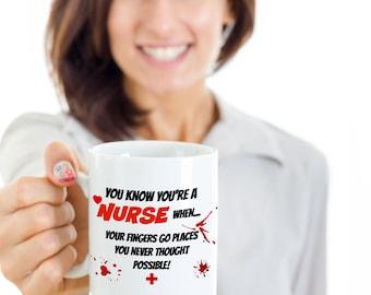 You Know You're A Nurse When.....funny nurse mug,nursing mug,nurse gift,mugs for nurse,funny mug,11 oz Mug