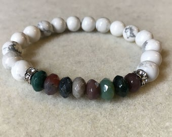 Fancy Jasper and Howlite Bracelet
