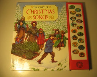 Vintage 1994 - Treasury of Christmas Songs - Hardcover book with Press & Play