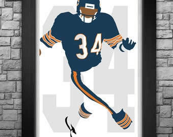 WALTER PAYTON minimalism style limited edition art print. Choose from 3 sizes!