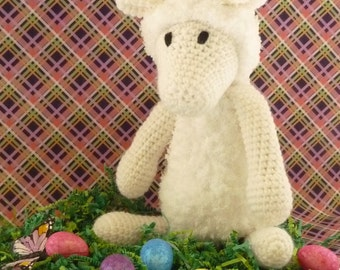 Custom Handmade Crochet Lamb, stuff animal, crochet animal, Amigurumi