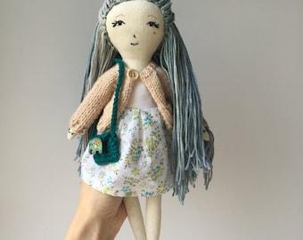 SALE |Lenore Doll | rag doll, linen doll,  soft toy, for girl