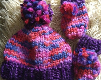 Girls Super chunky hand knit set