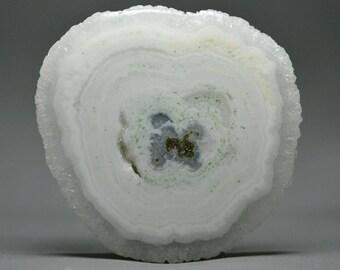70% OFF..Solar Quartz Stalactite.. Beautiful Naturally Side Spiked Polished Solar Quartz Slice.. 41x39.5x7.4mm..88.15cts..A#2449