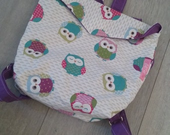 OWL pattern for child's backpack