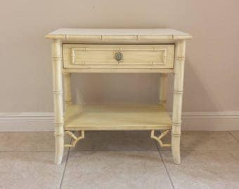 Vintage Thomasville Faux Bamboo Nightstand