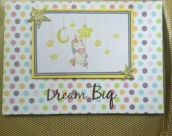Birthday unicorn card, card for girl, dream big