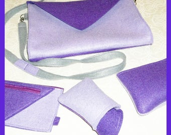 Set-clutch handbag, cosmetic bag, Phone Case
