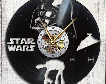 Star Wars Vinyl LP Record Wall Clock