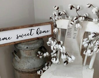Home Sweet Home Sign - Home Decor- Farmhouse Sign - Framed Wood Sign- Farmhouse Wall Decor - Wood Sign - Home sweet home decor- Wood Sign-
