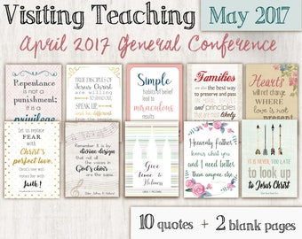 May 2017 Visiting Teaching Message,  Relief Society Printable, Message LDS handouts, General Conference April 2017 quotes TWO SIZES