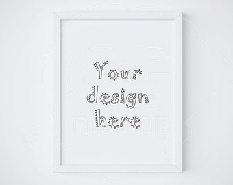 """11x14"""", Single white frame, Frame mockup, Simple mock up, Product mockups, Vertical frame, Styled stock, Instant download, Valentines mockup"""