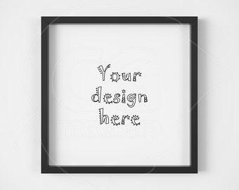 Product mockup, Basic black frame, Square frame mockup, Home decor, Mockup anysize, Styled stock, Instant download, Print display, PSD, PNG