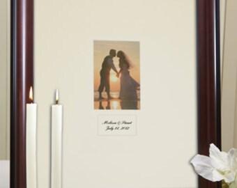 Mahogany Signature Mat, White or Ivory Mat, Personalization, Framed, Wedding Guest Book Alternative, Autograph Mat, Signature Board