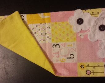 Set of 3 Burp Rag with Bows, Fabric Flowers and/or Initail(s)