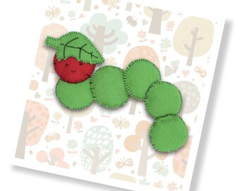 Clyde the Caterpillar Sewing Kit