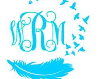 Personalized Feather Decal