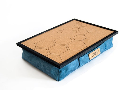 Laptop Tray Hexagons Wood With Pillow Light Laptop Desk Eco
